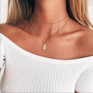 Jewelry - NEW 💫 Gold Minimalist Pineapple Choker Necklace